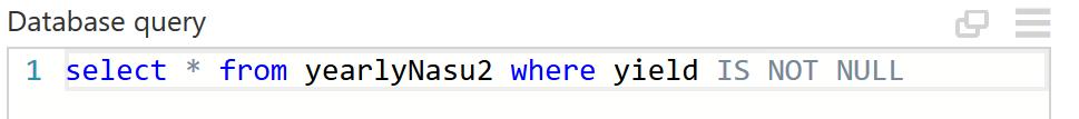変更後のAzure SQLクエリー