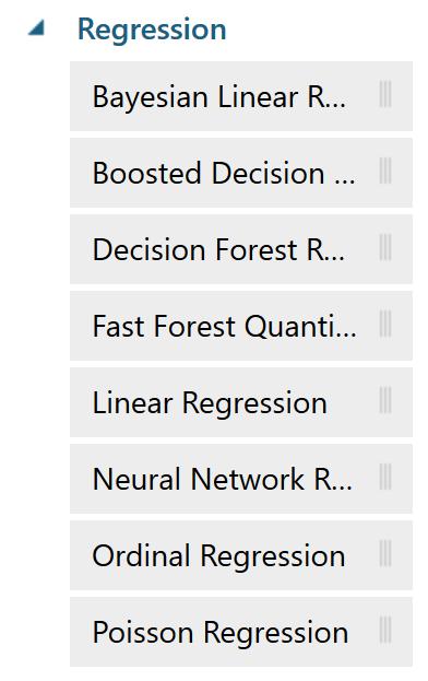 Regressionアルゴリズムの種類