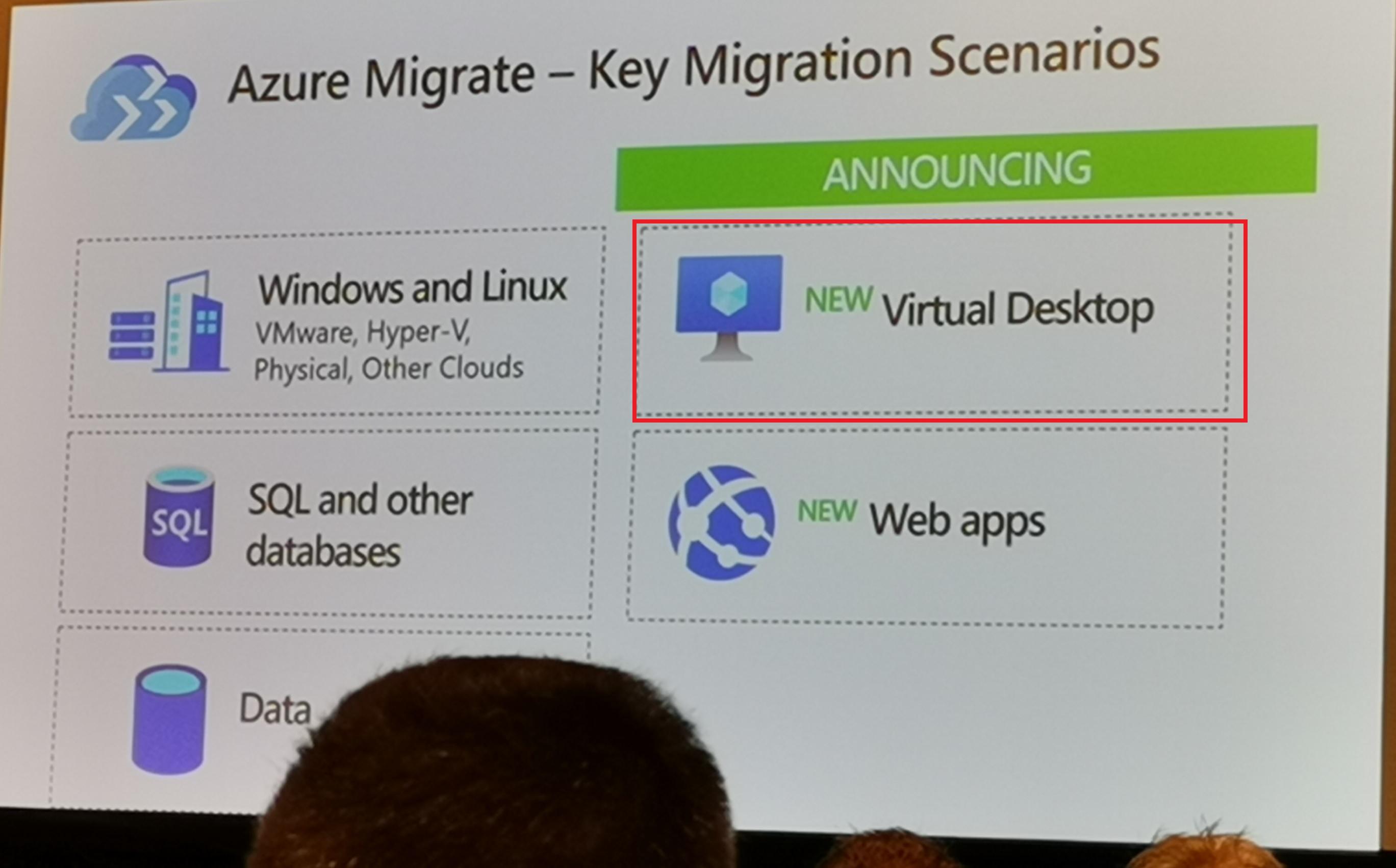 Azure MigrateでのVDIアセスメントサポート