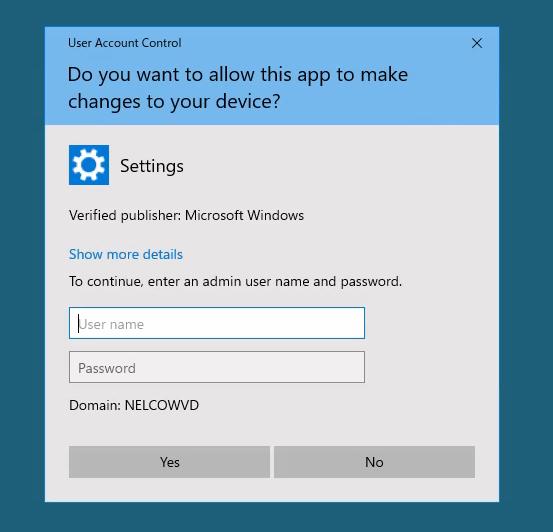 ユーザーアクセス制御のホップアップ