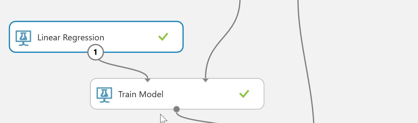 学習アルゴリズムとTrain Modelの関連付け