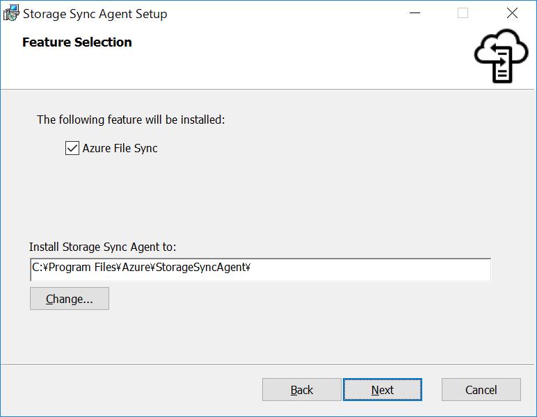 Storage Sync Agent Setup