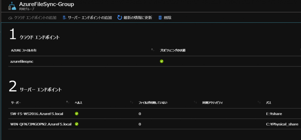 Azure File Sync Group
