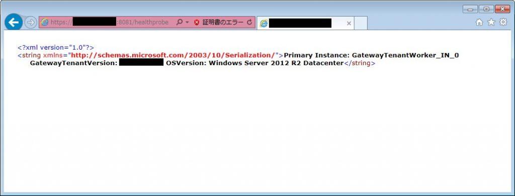 VPNゲートウェイのプローブURLにアクセスし正常性を確認