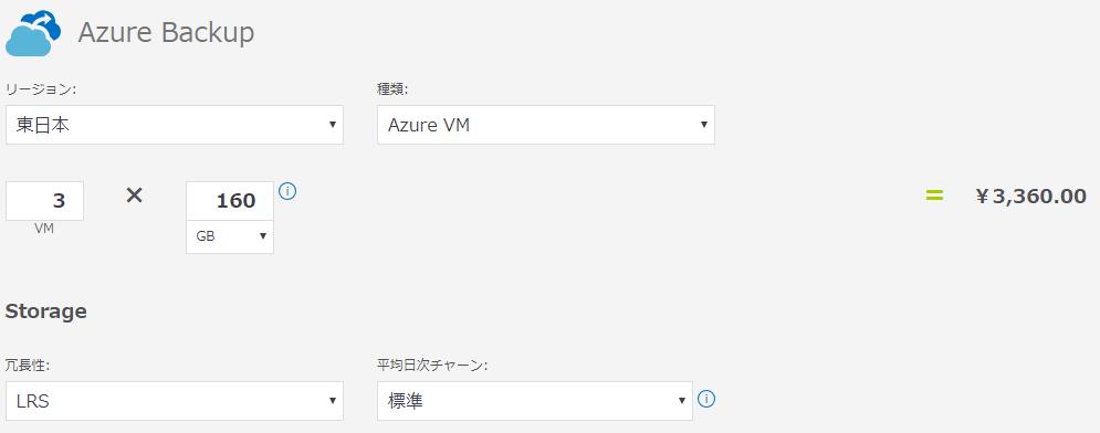 Azure Backupの計算