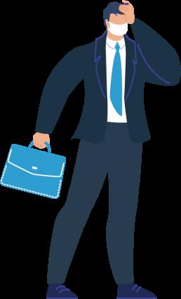 個人情報や社内システムを利用する社員は会社に来ないと作業できない。