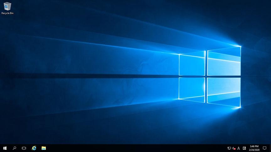 接続完了したデスクトップ画面